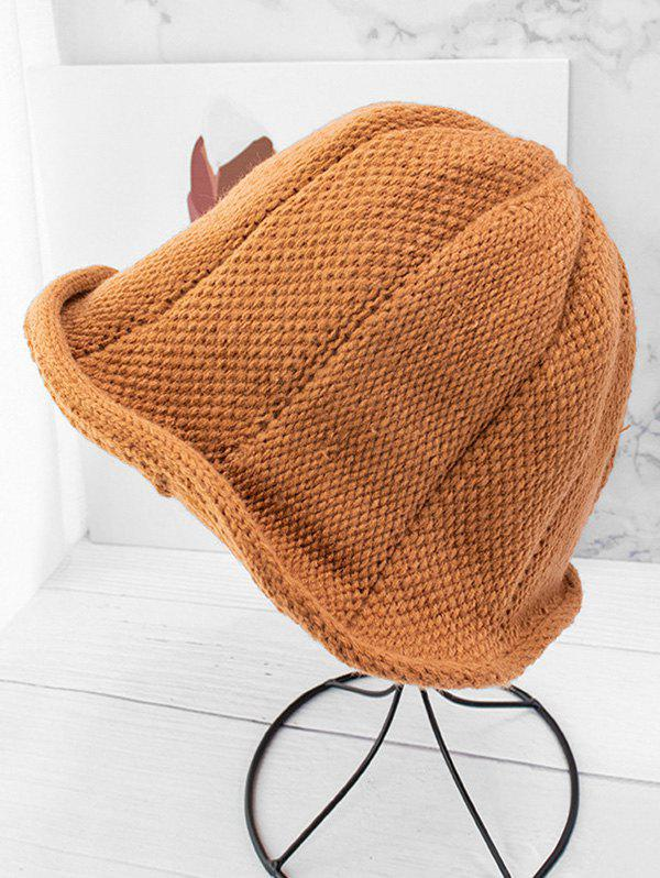 Affordable Knitted Solid Woolen Yarn Hat