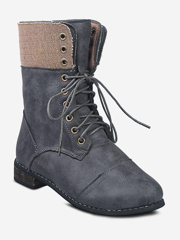 Sale Lace Up Cargo Mid Calf Boots