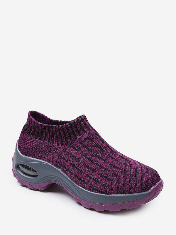 Heather Knit Slip On Sneakers extérieure Plate-forme