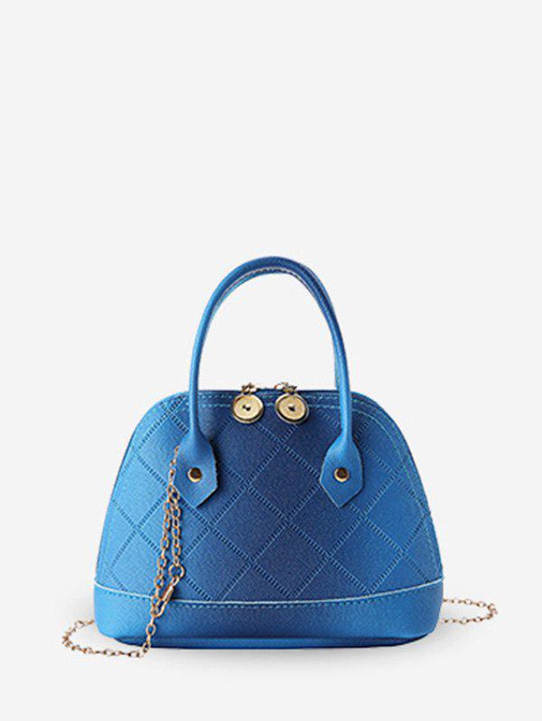 Fancy Quilted PU Leather Shell Tote Bag
