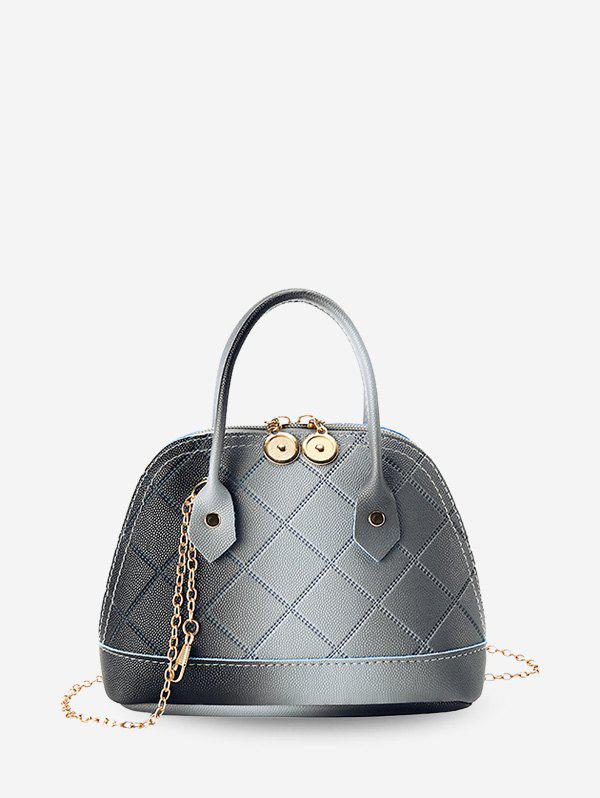 Store Quilted PU Leather Shell Tote Bag