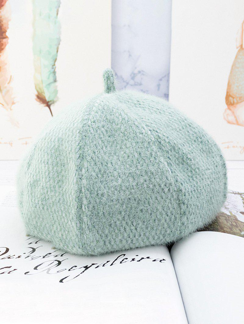 Hot Solid Fuzzy Japanese Beret Hat