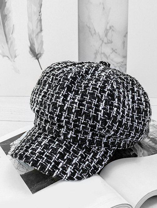 Unique Plaid Sequins Casual Newsboy cap