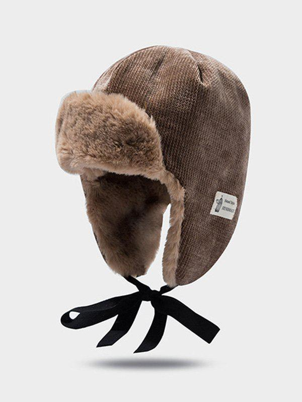 New Winter Velour Ear Knitted Trapper Hat