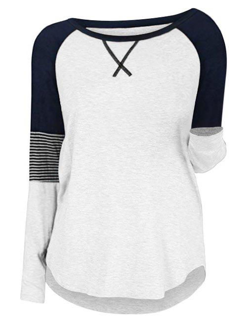 Shops Plus Size Colorblock Raglan Sleeve T Shirt
