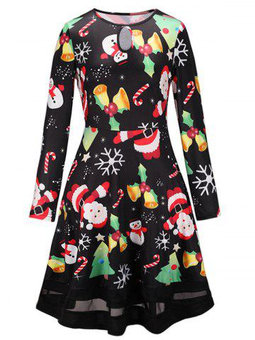 Santa Claus Printed Christmas A Line Dress - from $23.99