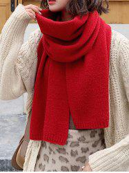 Solid Color Knit Scarf -