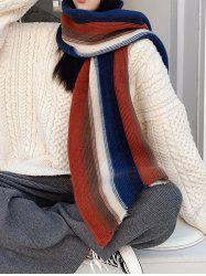 Colorblock Striped Knit Scarf -