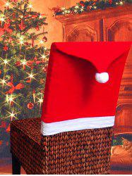 Colorblock Spliced Christmas Chair Cover -