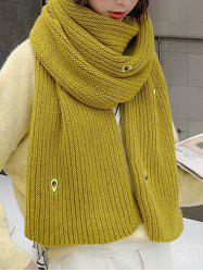 Winter Knitted Avocado Pattern Long Scarf -