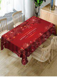 Merry Christmas Snowflake Fabric Table Cloth -
