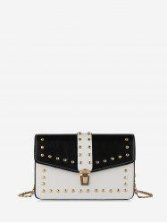 Rivet Jointed Cover Shoulder Bag -