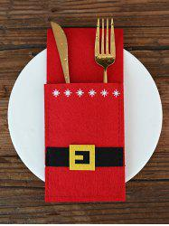 Christmas Decoration Santa Claus Costume Knives and Forks Cover Bag -