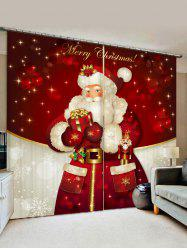 Father Christmas Gift Window Curtains -