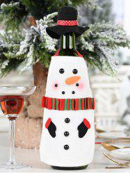 Christmas Bottle Decoration with Hat -