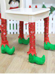 Christmas Print Table Chair Leg Cover -