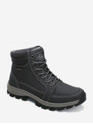 Outdoor Fleece Lace Up Cargo Boots -