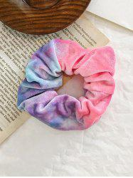 Gradient Water Color Elastic Velour Fabric Scrunchy -