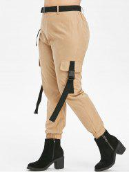 Taille Plus Pantalon Zipper Fly Jogger - Bronze 5X