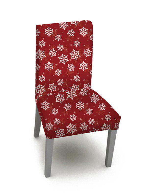 Cheap 1PCS Christmas Snowflake Pattern Elastic Chair Cover