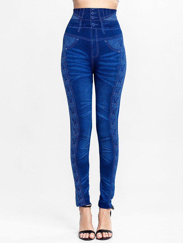 Discount High Waisted Knit Jeggings