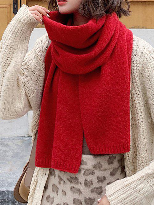 Store Solid Color Knit Scarf