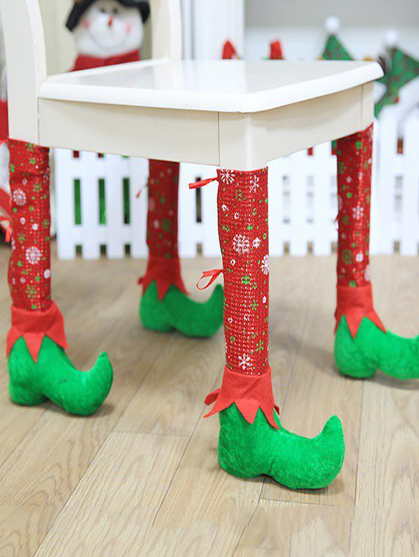 Fancy Christmas Print Table Chair Leg Cover