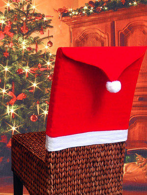 Sale Colorblock Spliced Christmas Chair Cover