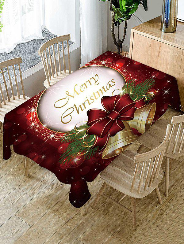 Fashion Merry Christmas Bell Fabric Table Cloth