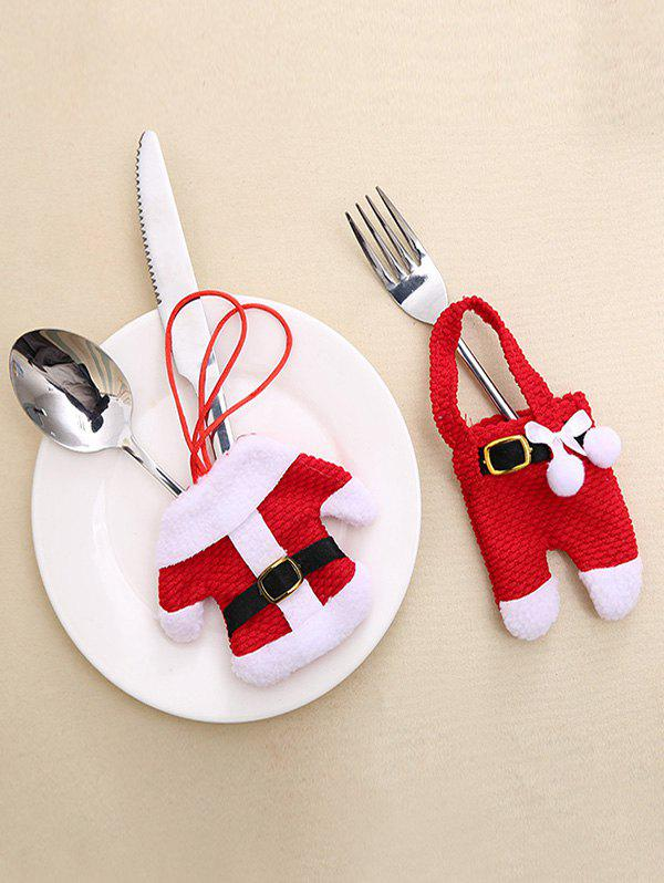 Latest 2 Pcs Christmas Decoration Costume Shape Knives and Forks Cover Bags