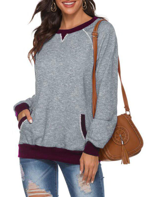 Latest Crew Neck Picot French Terry Raglan Sleeve Sweater