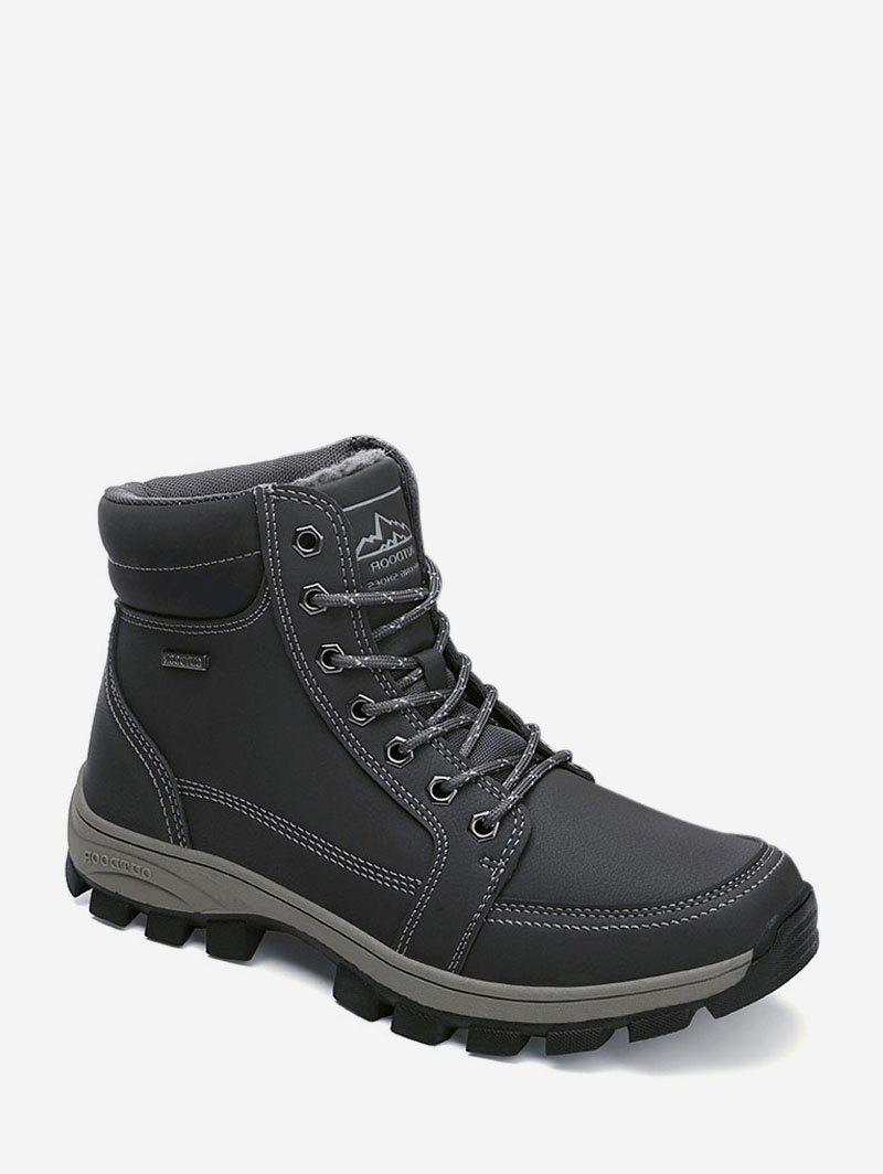 Shop Outdoor Fleece Lace Up Cargo Boots