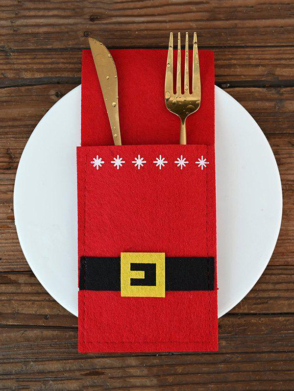 Discount Christmas Decoration Santa Claus Costume Knives and Forks Cover Bag