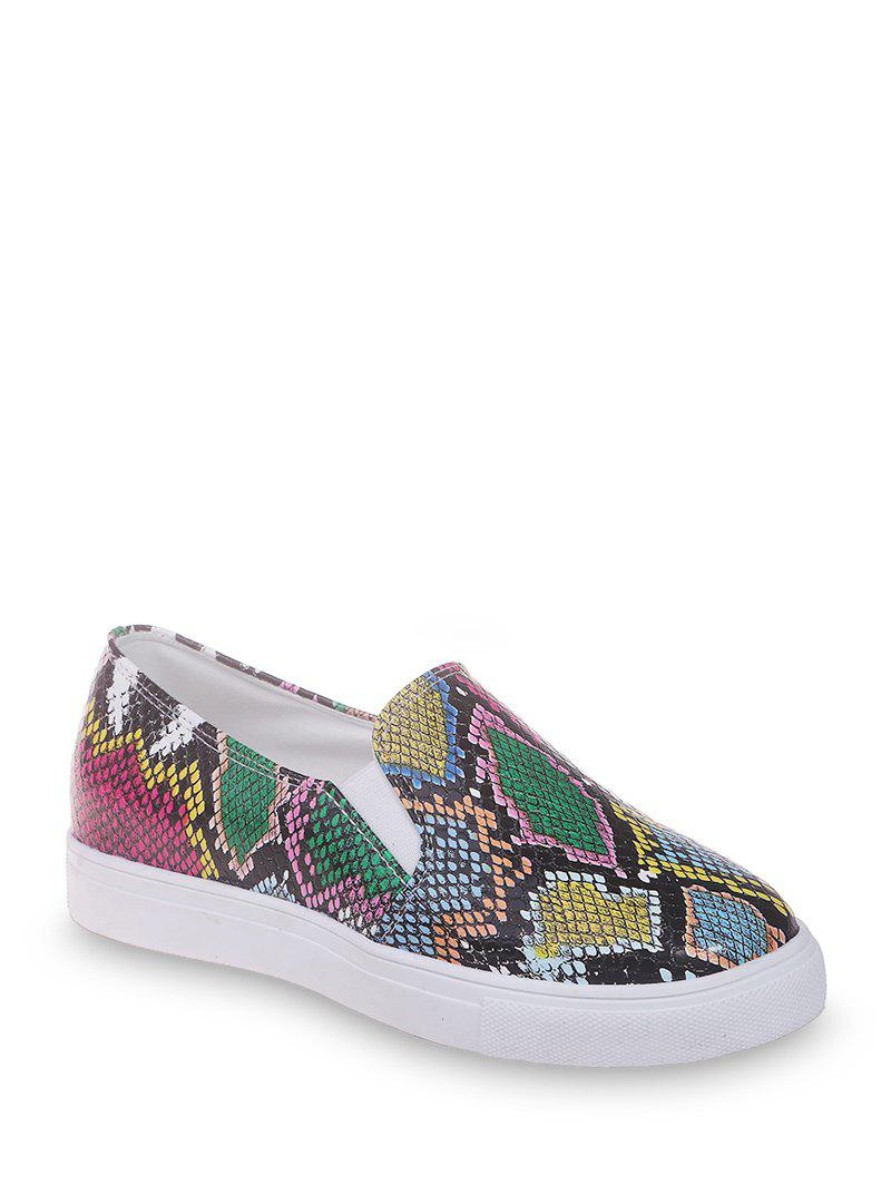 Store Snakeskin Print Slip On Casual Shoes
