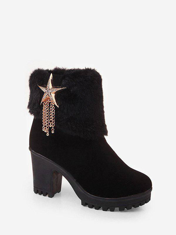 Shops Rhinestone Star Tassel Design Ankle Boots