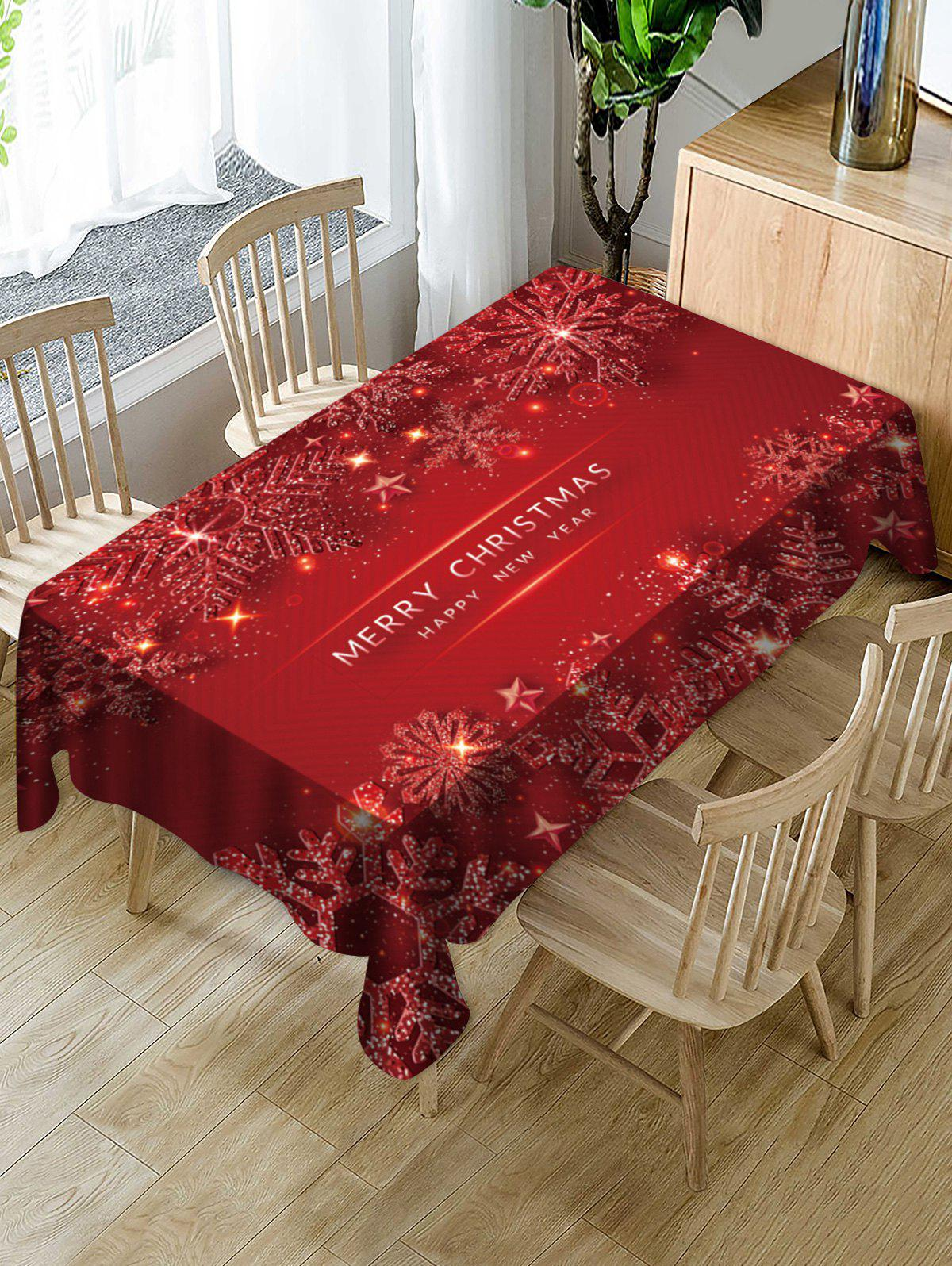 Outfits Merry Christmas Snowflake Fabric Table Cloth