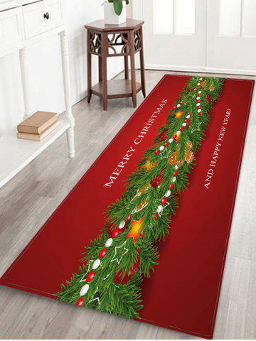 Merry Christmas New Year Floor Rug - MULTI - W24 X L71 INCH