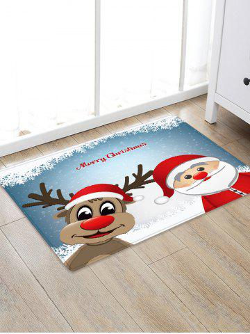 Christmas Cartoon Santa Claus Elk Pattern Water Absorption Area Rug