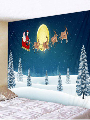 Father Christmas Snow Deer Printed Tapestry - from $20.49