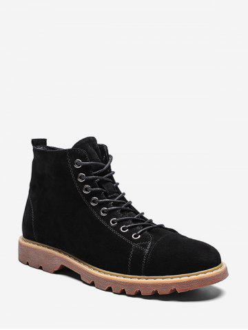Casual Solid Color Cargo Boots