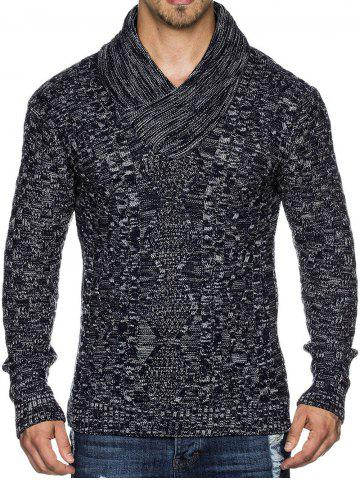 Casual Cable Knit Shawl Collar Sweater