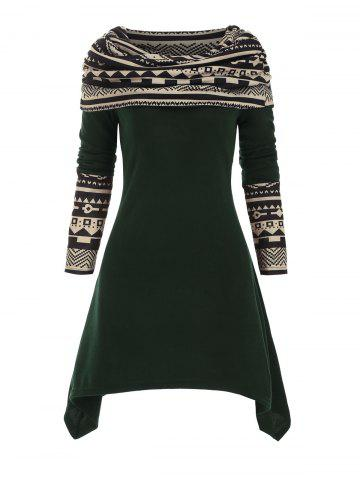 Multiway Geometric Handkerchief Knitted Dress