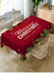 Merry Christmas New Year Fabric Table Cloth -