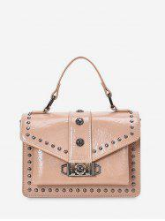 Poignée Top clouté Courroie large Sling Bag -