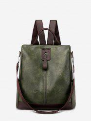Multi Handle PU Leather Casual Backpack -