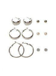 6 Pairs Brief Geometric Stud Earrings Set -