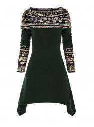 Multiway Geometric Handkerchief Knitted Dress -
