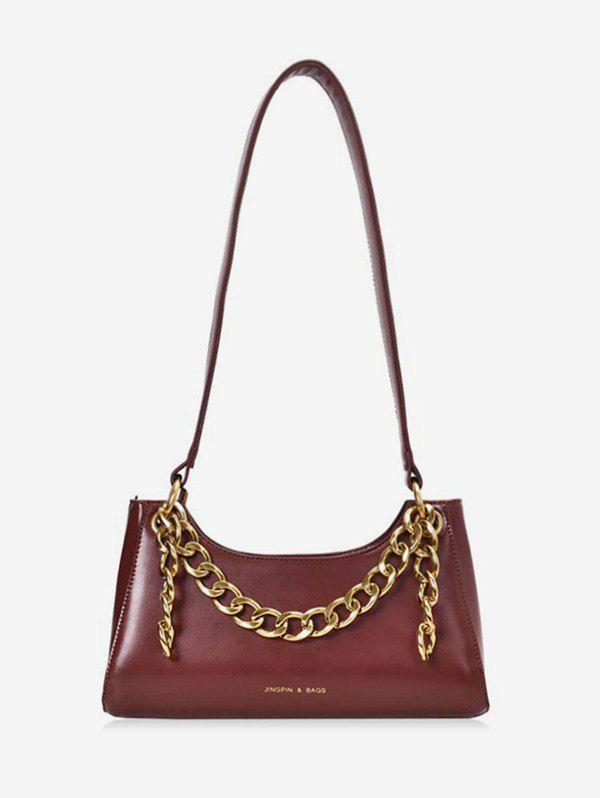 Outfit Metal Chain PU Leather Shoulder Bag