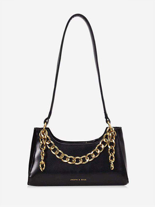Shops Metal Chain PU Leather Shoulder Bag