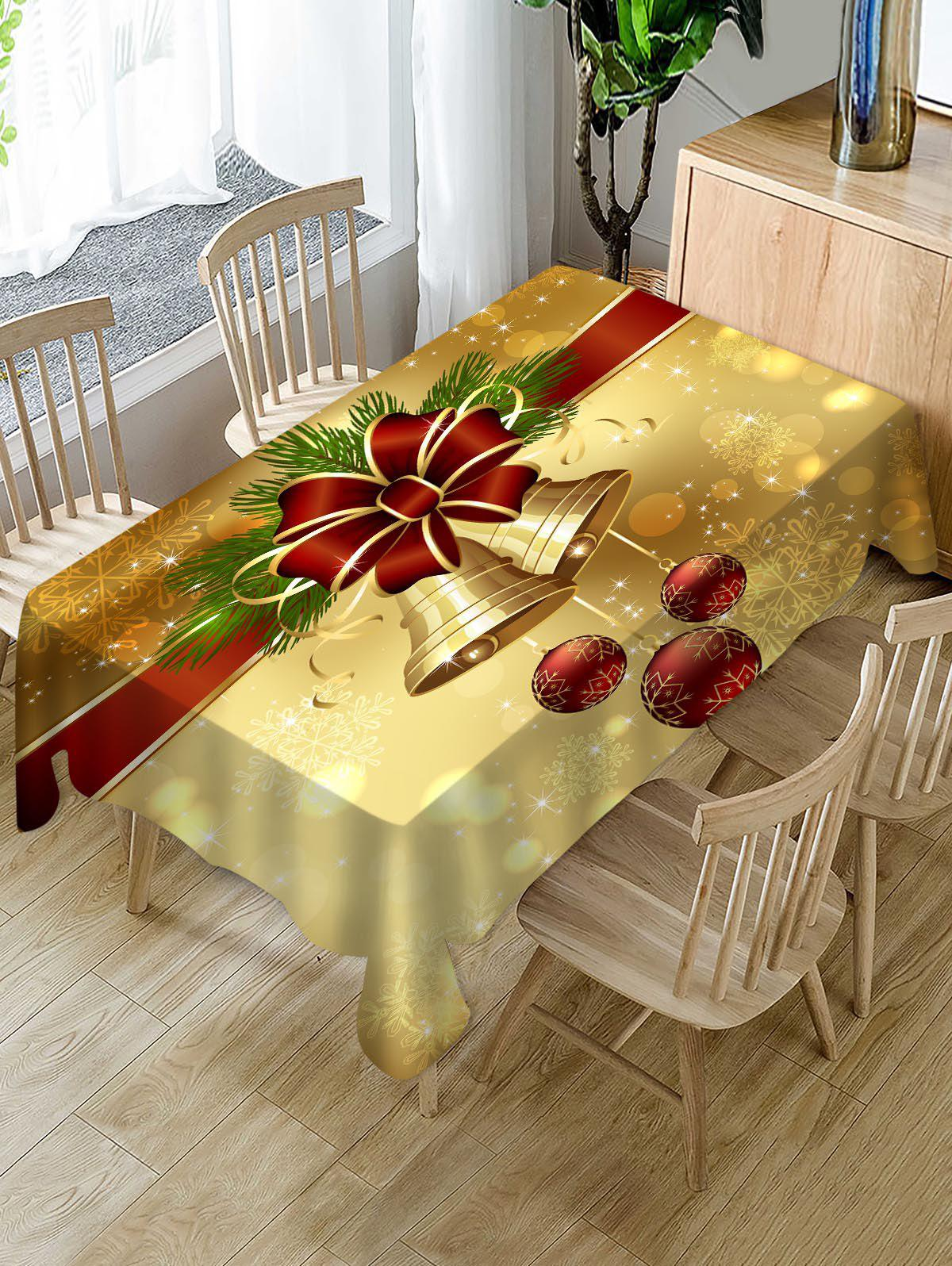 Affordable Christmas Bell Fabric Table Cloth